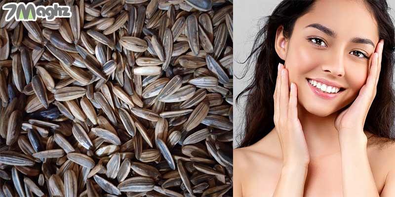خواص تخمه آفتابگردان برای پوست