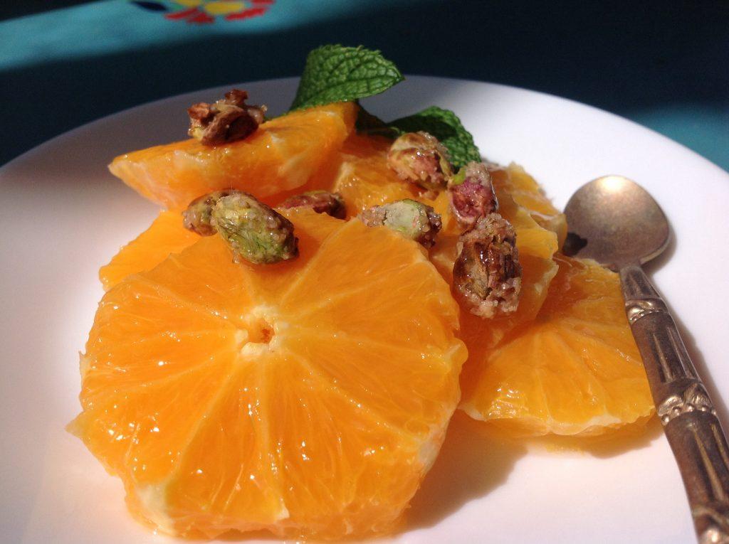 دسر پرتقال و پسته