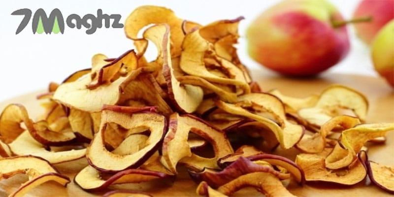 خشک کردن سیب در آفتاب